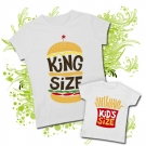 Camiseta MAMA KING SIZE + Camiseta KIDS SIZE WC