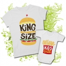 Camiseta MAMA KING SIZE + Body KIDS SIZE WC