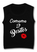 Camiseta sin mangas CÓMEME A BESITOS TB