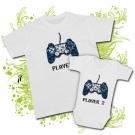Camiseta PAPA PLAYER ONE + BODY PLAYER TWO WC