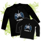 Camiseta PAPA PLAYER ONE + CAMISETA PLAYER TWO BL