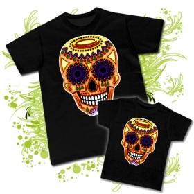 89428fded Camiseta PAPA CALAVERA MEXICANA TATTOO + Camiseta NIÑOS CALAVERA MEXICANA