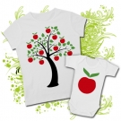 Camiseta MAMÁ APPLE TREE + Body APPLE