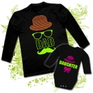 Camiseta PAPA DAD SOMBRERO + Body DAUGTHER
