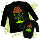 Camiseta PAPA DAD SOMBRERO + Body SON