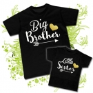 Camisetas BIG BROTHER & LITTLE SISTER BLACK