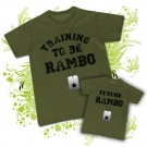 Camiseta PAPA TRAINING TO BE RAMBO + Camiseta FUTURE RAMBO