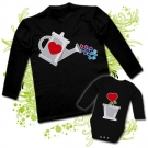 Camiseta PAPA REGADERA LOVE + Body PLANTA LOVE