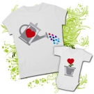 Camiseta MAMA REGADERA + Body PLANTA