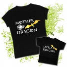Camiseta MAMA MOTHER OF DRAGON + Camiseta LITTLE DRAGON