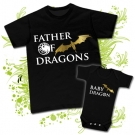 Camiseta FATHER OF DRAGONS + Body LITTLE DRAGON