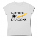 Camiseta mamá MOTHER OF DRAGONS WHITE