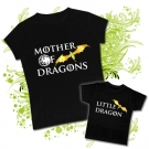 Camiseta MAMA MOTHER OF DRAGONS + Camiseta LITTLE DRAGON