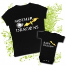 Camiseta MAMA MOTHER OF DRAGONS + Body LITTLE DRAGON
