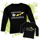 Camiseta MAMA MOTHER OF DRAGONS (Targaryen) + Camiseta LITTLE DRAGON