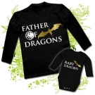 Camiseta PAPA FATHER OF DRAGONS + Body LITTLE DRAGON
