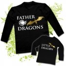 Camiseta PAPA MOTHER OF DRAGONS (Targaryen) + Camiseta LITTLE DRAGON