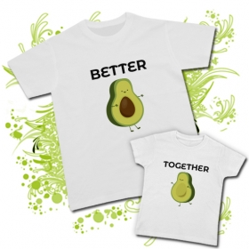 Camiseta PAPA AGUACATE (Better) + Camiseta AGUACATE (Together)