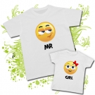 Camiseta PAPA EMOTICONO + Camiseta EMOTICONO (Girl)