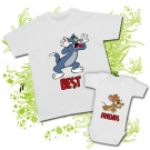 Camiseta PAPA TOM + Body JERRY (Best Friends)