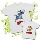 Camiseta PAPA TOM + Camiseta JERRY (Best Friends)