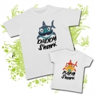 Camiseta DADDY SHARK + Camiseta BABY SHARK