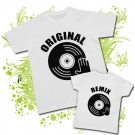 Camiseta PAPA REMIX + Camiseta ORIGINAL ( Disco dj )
