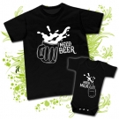 Camiseta PAPA NEED BEER + Body NEED MILK
