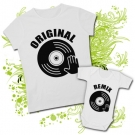 Camiseta MAMA REMIX DJ + Body ORIGINAL MANO DJ