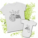 Camiseta MAMA NEED BEER + Body NEED MILK